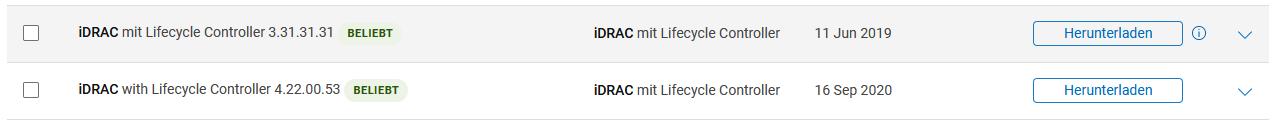 IDRAC-Versionen